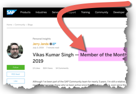 B2B lead generation case study SAP community network member of the month